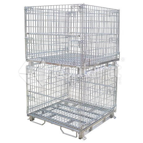 CWMC-1150-95 Full Height Wire Mesh Cage Stacked