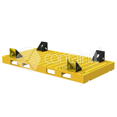 Double Pallet with 4 Chocks - adjusted holes