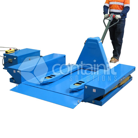 1500kg extra low profile electric lift table in use