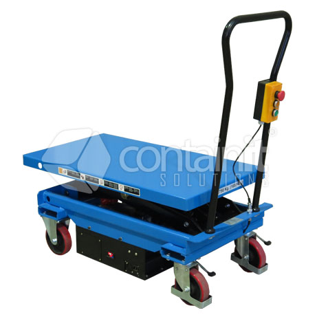 750Kg capacity electric lift trolley down