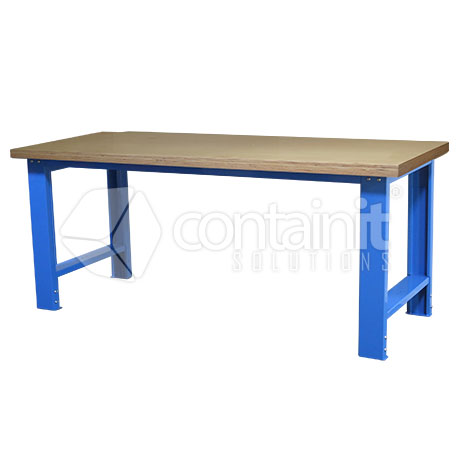 Adjustable Workbench with Ply Worktop down
