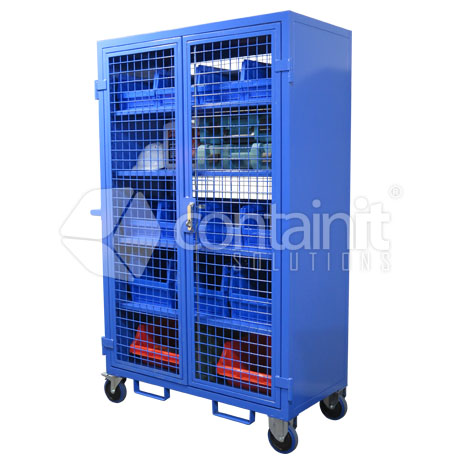 CMT-5S Maintenance trolley with 4 shelves + base level