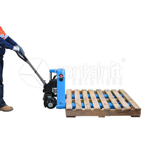 Economical Electric Powered Pallet Truck in use
