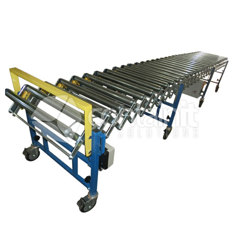 Powered Expandable Conveyor with rollers