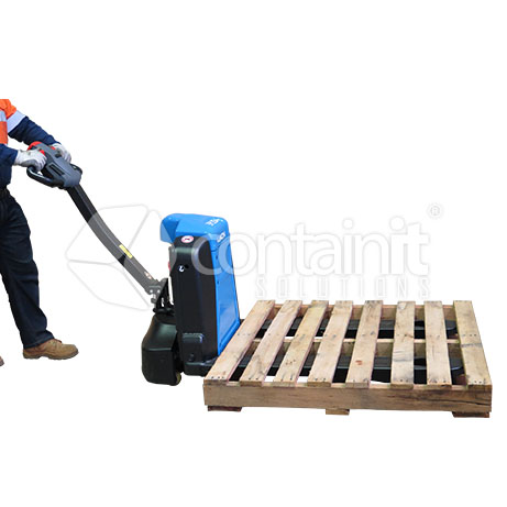 Premium Electric Powered Pallet Truck in use