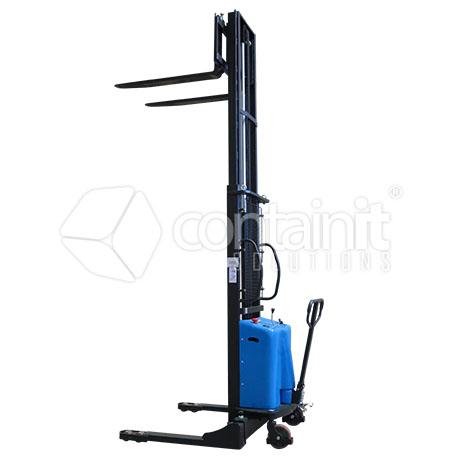 Semi-electric Adjustable Pallet Stacker up