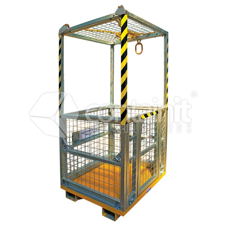 4 person, personnel lifting cage with roof