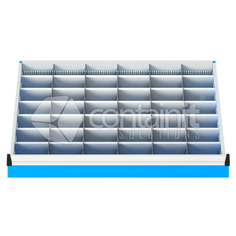 42 Metal Compartment Drawer Insert