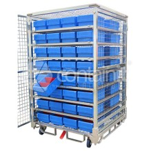 1800 Logistics & Storage Cage with Small Parts Bins