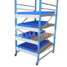 Small Gravity Feed Carton Flow Racks