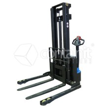 Premium Adjustable Electric Powered Straddle Stacker