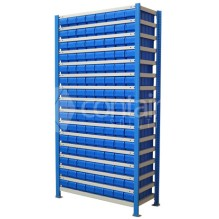 Easy Rack Small Parts Storage Shelving with Buckets