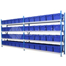 Storeman® Longspan Shelving with Attached Lid Containers