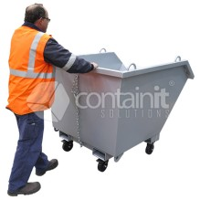 Self Tipping Waste Bin with Castors